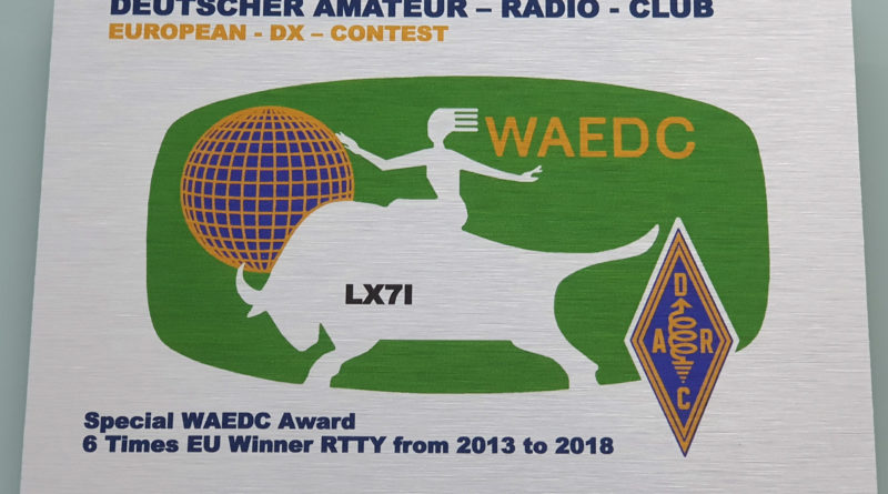 WAEDC RTTY # 6 arrived