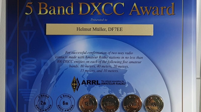 9BDXCC reprint for DF7EE